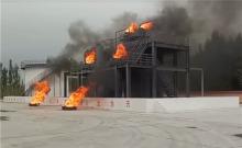 消防训练基地模拟化工火灾消防演习训练点火