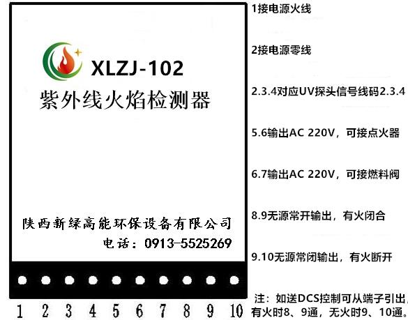 XLZJ-102紫外线火焰检测器端子示意.png